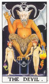 Tarot card devil satan